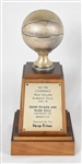 Trent Tucker Big 10 Minnesota Gophers MVP Trophy w/Letter of Provenance