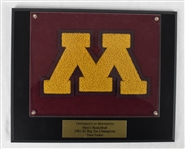 Trent Tuckers Minnesota Gophers 1981-82 Big 10 Championship Varsity Letter w/Letter of Provenance
