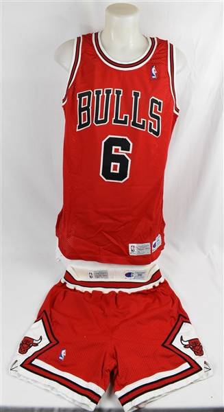 Trent Tucker 1992-93 Chicago Bulls NBA Finals Game Used Road Uniform w/Letter of Provenance *Worn During the Game 6 Title Clincher*
