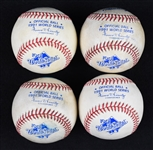 Kirby Pucketts Lot of 4 Game Used 1991 World Series Baseballs w/Puckett Family Provenance