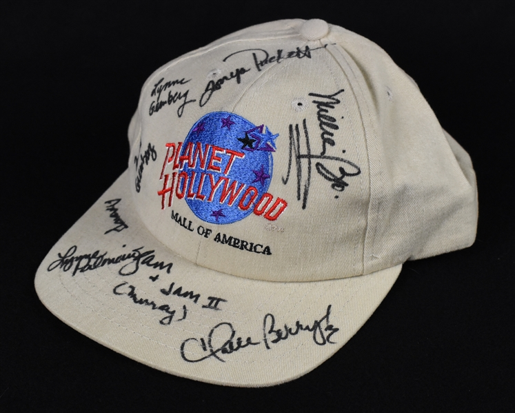 Planet Hollywood Hat Signed by Players Wives w/Halle Berry & Puckett Family Provenance