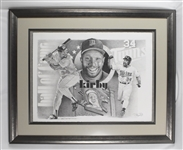 Kirby Puckett Framed Lithograph w/Puckett Family Provenance