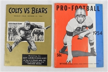 Chicago Bears & NFL 1950s Programs