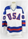 Miracle On Ice USA 1980 Olympic Team Signed Jersey w/21 Signatures Including Herb Brooks