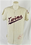 Tony Oliva 1964 Minnesota Twins Game Used Rookie of the Year Flannel Jersey *Photomatched by Sports Investors Authentication*