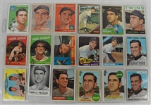 Camilio Pascual 1957-70 Lot of 17 Autographed Baseball Cards