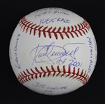 Kirby Puckett Autographed & Multi Inscribed Limited Edition Stat Ball #/1000