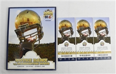 Notre Dame vs. Washington State 2009 Alamo Bowl Tickets & Program