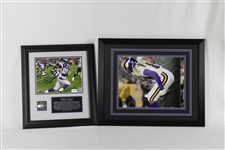 "Adrian Peterson Autographed Framed Photo & Randy Moss ""Moon"" Photo"