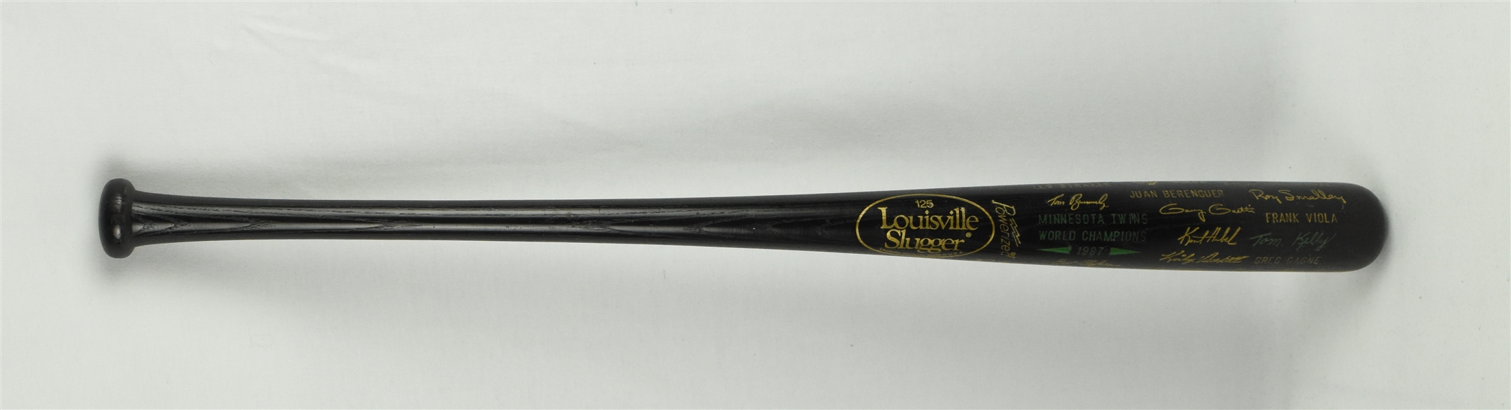 Minnesota Twins 1987 World Series Championship Bat