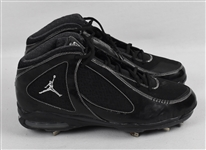 Derek Jeter Game Used Black Air Jordan Cleats