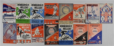 Minneapolis Millers Lot of 15 Basketball Programs