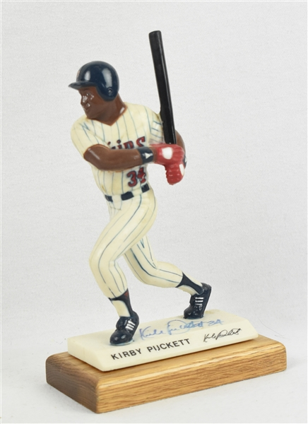Kirby Puckett Autographed Figurine w/Original Packaging
