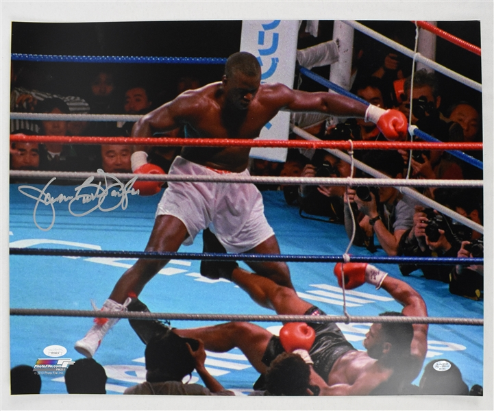 Buster Douglas Autographed 16x20 Mike Tyson Knockout Photo