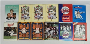 Kirby Pucketts World Series Program Collection w/Puckett Family Provenance