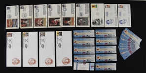 Kirby Pucketts First Day Covers & Tickets w/Puckett Family Provenance