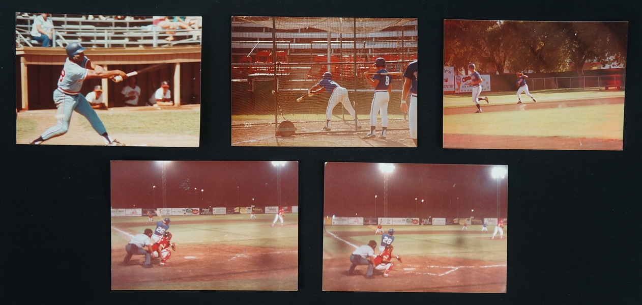 Kirby Pucketts Original Photos & Handwritten Notes on Back w/Puckett Family Provenance
