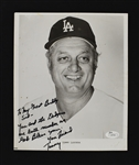 Tommy Lasorda Autographed & Inscribed Photo to Sid Hartman