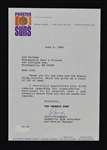 Jerry Colangelo Phoenix Suns Signed Letter to Sid Hartman