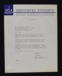 John Wooden UCLA Signed Letter to Sid Hartman