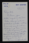 Bob Kerner Milwaukee Hawks Signed Letters & Check to Sid Hartman