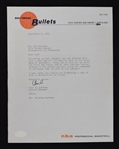 Jerry Kobin & Paul Hoffman Baltimore Bullets Signed Letters to Sid Hartman