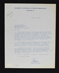 Adolph Rupp Signed Kentucky Wildcats Letter to Sid Hartman