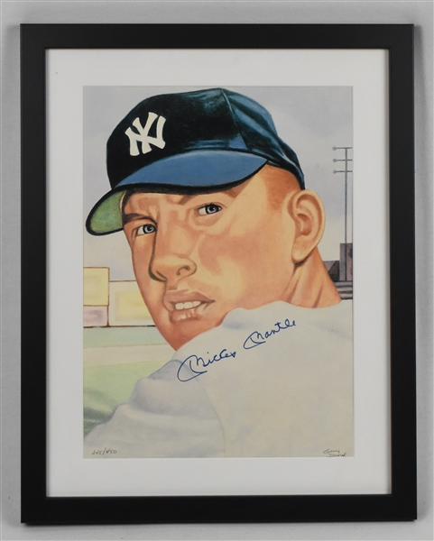 Mickey Mantle Autographed Limited Edition Lithograph