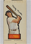Mickey Mantle 1968 Topps Action All-Star Sticker #7 Complete Unperforated Panel *RARE*