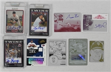 Collection of 7 Minnesota Twins Autographed Insert Cards
