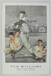 Ted Williams Autographed 1942 Triple Crown Lithograph #80/521 PSA/DNA