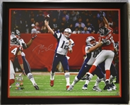 Tom Brady Autographed Super Bowl 51 Limited Edition 40x50 Framed Photo