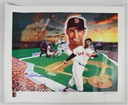 Ted Williams Autographed 1942 Triple Crown Lithograph #94/179