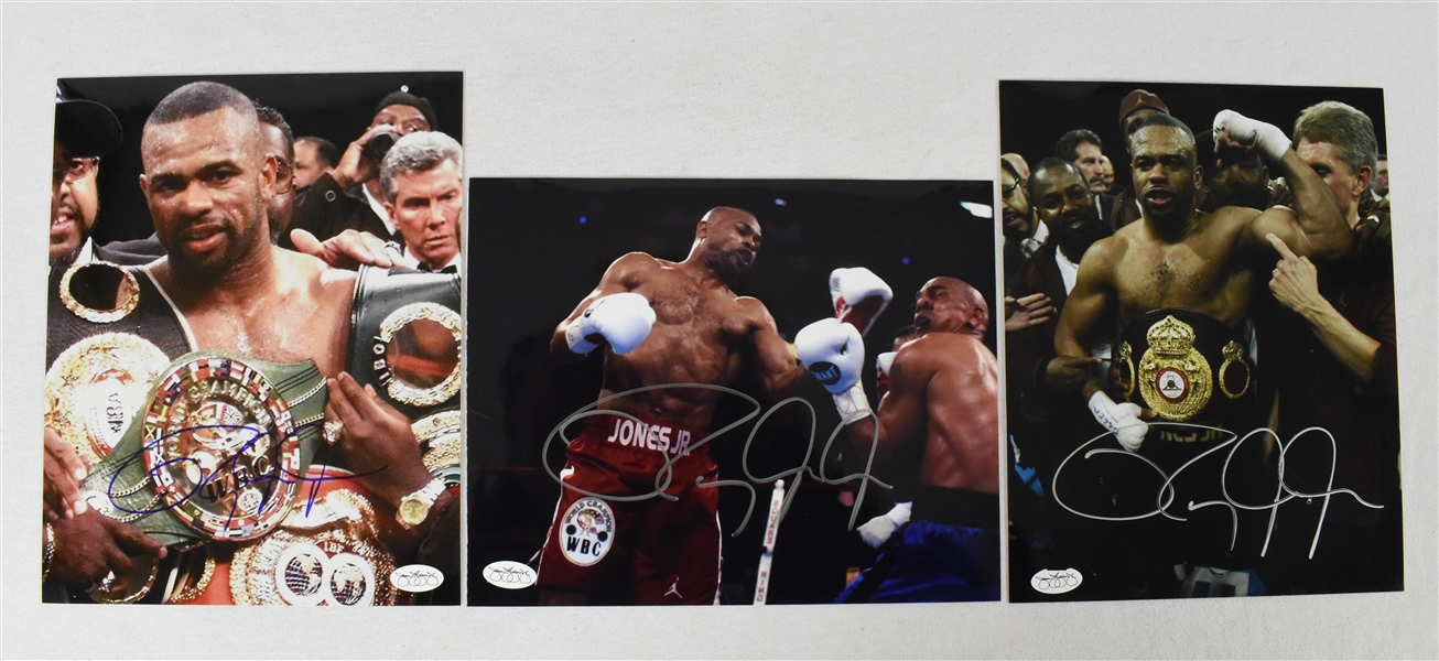 Roy Jones Jr. Lot of 3 Autographed 8x10 Photos