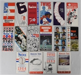 Collection of 16 Minnesota Twins 1961-76 Media Guides