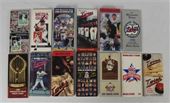 Collection of 13 Minnesota Twins 1981-2000 Media Guides