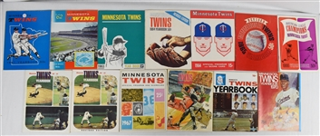 Minnesota Twins 1961-1980 Collection of 25 Yearbooks