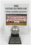 Minnesota Twins 1986 Old Timers Day Program & Trophy