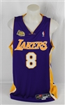 Kobe Bryant Autographed 2001 Los Angeles Lakers NBA Finals Jersey PSA/DNA & Beckett