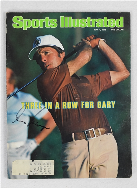 Gary Player Autographed Sports Illustrated Magazine
