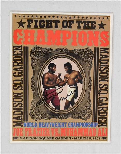 "Muhammad Ali vs. Joe Frazier ""Fight of the Century"" Dual Signed 1971 Program"