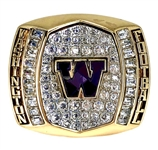 "Andre Baccellia 2015 Washington Huskies ""Heart of Dallas"" Bowl Champions Football Ring"