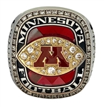 "Donnell Greene 2016 Minnesota Gophers ""Holiday Bowl"" Champions Football Ring"