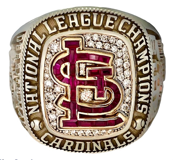Derrick May 2013 St. Louis Cardinals World Series National League Championship 10K Gold & Diamond Ring w/Stan Musial Memorial