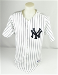 Derek Jeter 2001 New York Yankee Game Used Home Jersey w/Dave Miedema LOA & Delbert Mickel Provenance