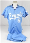 George Brett 1990 Kansas City Royals Game Used Full Uniform w/Dave Miedema LOA