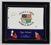 Tiger Woods Autographed Limited Edition Golf Flag UDA
