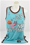 Michael Jordan Game Issued 1996 All-Star Game Jersey w/Dave Miedema LOA