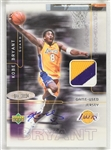 Kobe Bryant 2001 Autographed Limited Edition Game Used Jersey Patch Card Kobes Jersey Number #8/150 UDA 1 of 1