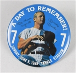 Mickey Mantle Day Pinback Button